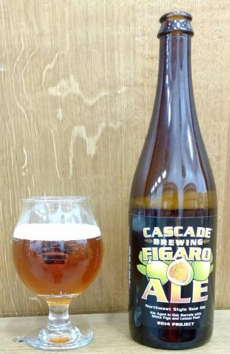 (Photo   rimtabbreweing.com) Cascade Brewing's Figaro is a blend of sour blond ales aged in chardonnay barrels for up to 18 months with white figs and lemon peel.