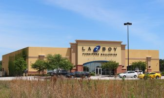 A small portion of the La-Z-Boy Furniture Gallery store is part of 4.19 acres the Spanish Fort Town which the city of Spanish Fort is seeking to annex into its corporate limits and out of Daphne.