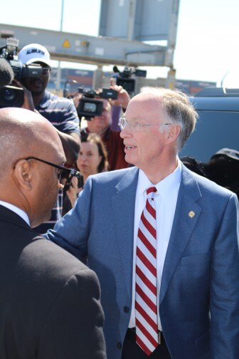 Gov. Robert Bentley in Mobile on April 6. (Jason Johnson)