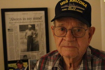 (Photo | Dale Liesch/Lagniappe) Mobilian Kirby B. Evans once drifted in the Mediterranean Sea after his U.S. Navy ship was sunk by a German torpedo. Later, he was among the allied forces storming the beaches in Normandy during D-Day.