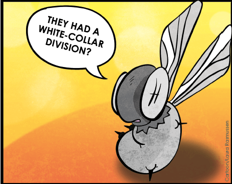 (Cartoon/Laura Rasmussen) The Gadfly is just as alarmed as everyone about the effects of funding shortages at the District Attorney's office.