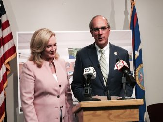 From left, Mobile City Council President Gina Gregory and Mobile Mayor Sandy Stimpson.