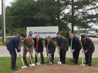 Officials broke ground on a $30 million expansion at UTC Aerospace Systems in Foley on May 3. (Eric Mann/Lagniappe)