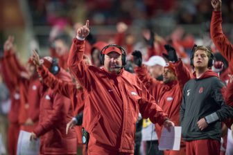 (Photo | University of Arkansas Communications) University of Arkansas head football coach Bret Bielema will be the keynote speaker at the 22nd annual L'Arche Football Preview.