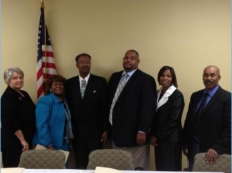 The Mt. Vernon town council along with Mayor James Adams. (mtvernonal.com)