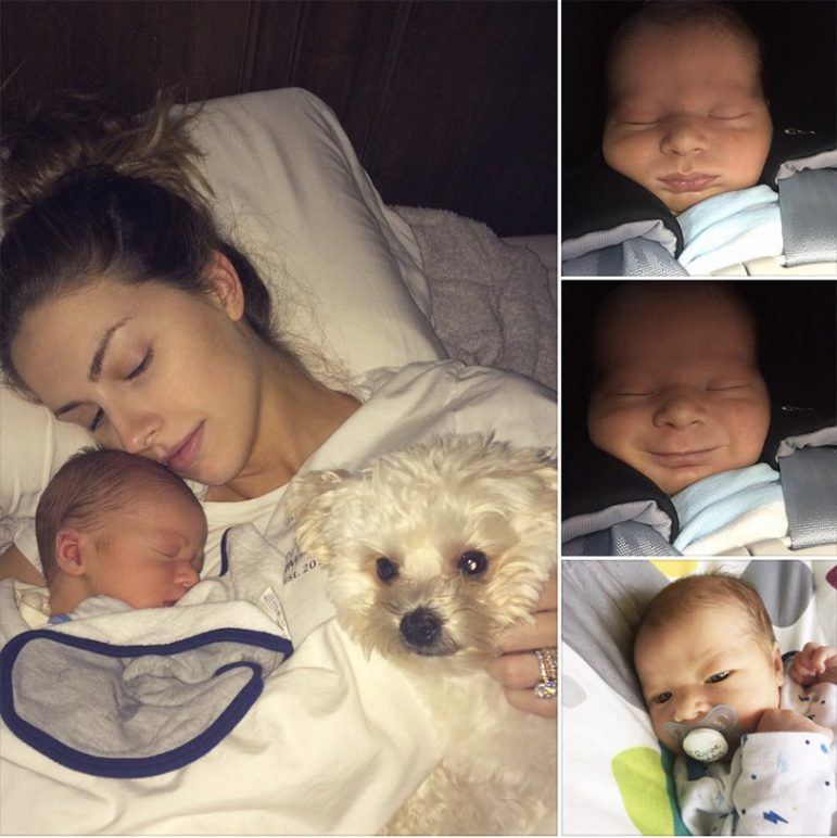 (Photos | Facebook) Katherine webb-mccarron and former bama qb AJ mccarron shared photos of their son tripp, who was born on may 24.