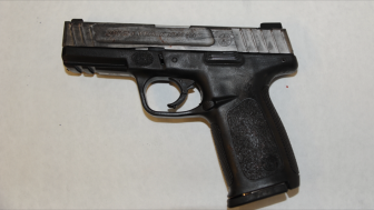 On June 15, Mobile Police release a photo of this handgun, said to the one Michael Moore was in possession of when he was shot and killed by an MPD officer. (MPD)