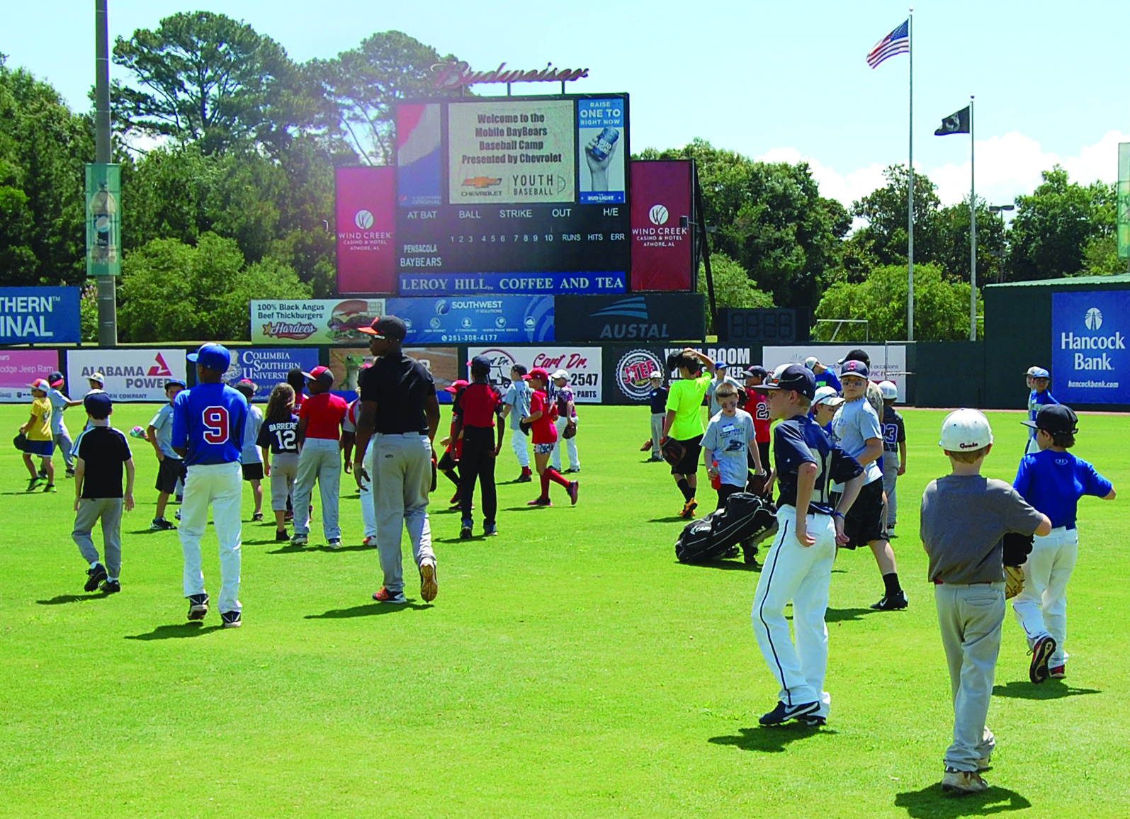 gulf coast chevy dealers host youth baseball clinic lagniappe mobile lagniappe mobile