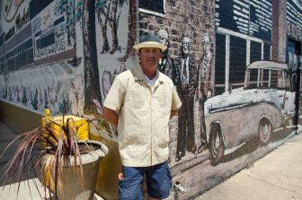 "(Photo | Lagniappe) ""Best Local Painter"" Devin Wilson created the historical mural at greers on Broad street."
