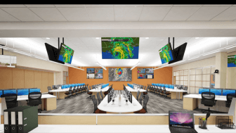 A digital rendering of a command room in the $10 million Emergency Operations Center Mobile County hopes to build.