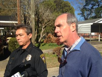 Mobile Police Chief James Barber, left, with Mayor Sandy Stimpson. (Jason Johnson)