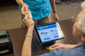 Through a pilot program run by Alabama Secretary of State John Merrill's office, the Poll Pad system will be used at three Mobile County voting precincts during November's general election. (Knowink photo)