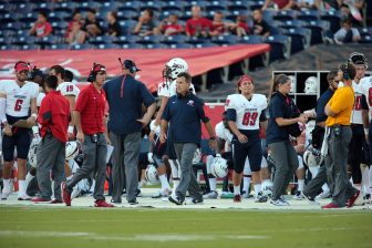South Alabama head football coach Joey Jones says he is excited about the Jaguars' new season.