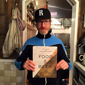 (Photo | Facebook) Chef Daniel Burns of Brooklyn restaurant Luksus authored a beer-pairing book with Evil Twin Brewing founder Jeppe Jarnit-Bjergsø.