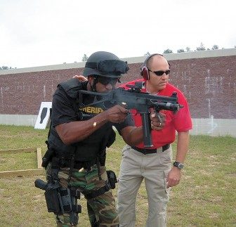 Advanced weapons training conducted by the Mobile County Sheriff's Office in 2014.