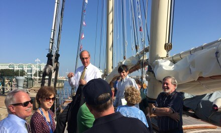 Schooner America docks at GulfQuest