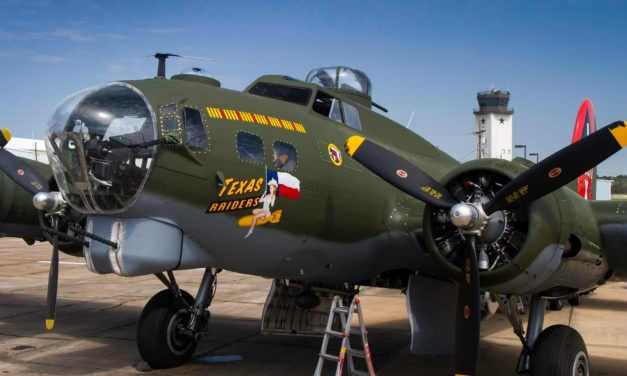 Texas Raiders B-17 Flying Fortress arrives today