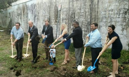Groundbreaking held for Blue Bird Hardware redevelopment