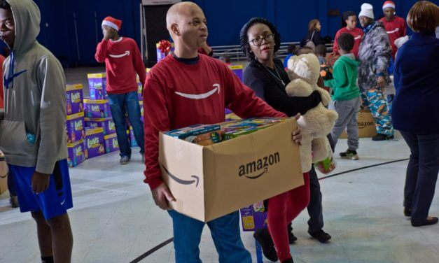 Amazon donates wish list Items and holiday gifts to Mobile families
