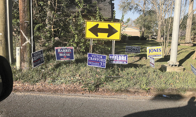 Number of improperly placed political signs increases