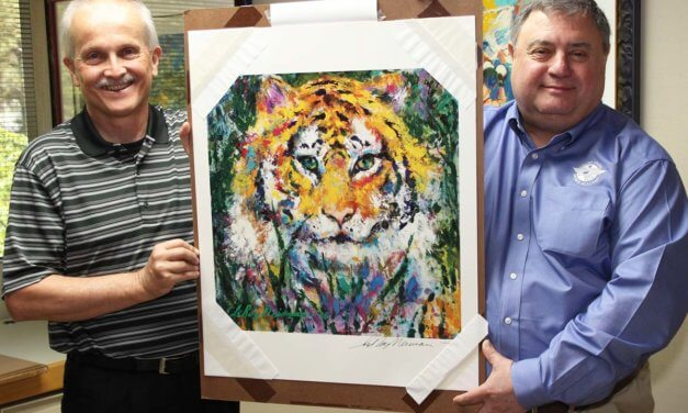 LeRoy Neiman print donated to Sports Academy museum