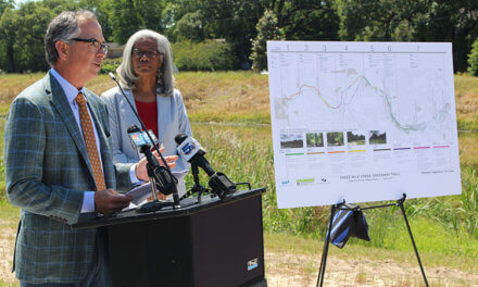 Officials announce new partnership for Three Mile Creek trail
