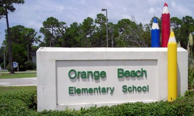 Attorney General Steve Marshall presents Orange Beach Elementary with 2018 Safe Schools Initiative Award of Excellence