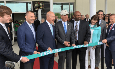 Officials cut ribbon on new airport as Via remains absent