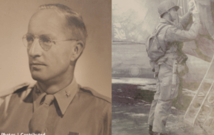 Exhibit highlights role soldiers with local ties played in D-Day