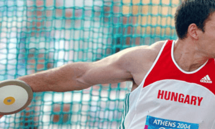 Former Olympian shares love of throwing with young athletes