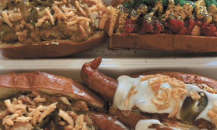 Big and bold weenies slung from food truck