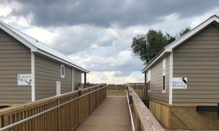 New cabins at Meaher State Park overlook scenic Ducker Bay