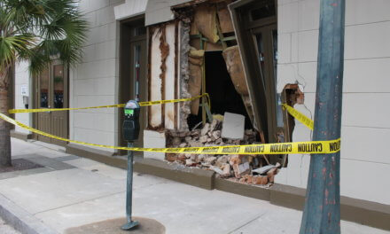 Man crashes into buildings downtown, charged with DUI