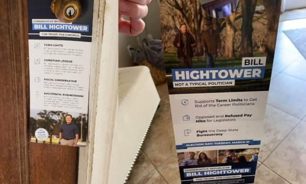Super PAC hand-delivering Hightower ads during COVID-19 pandemic