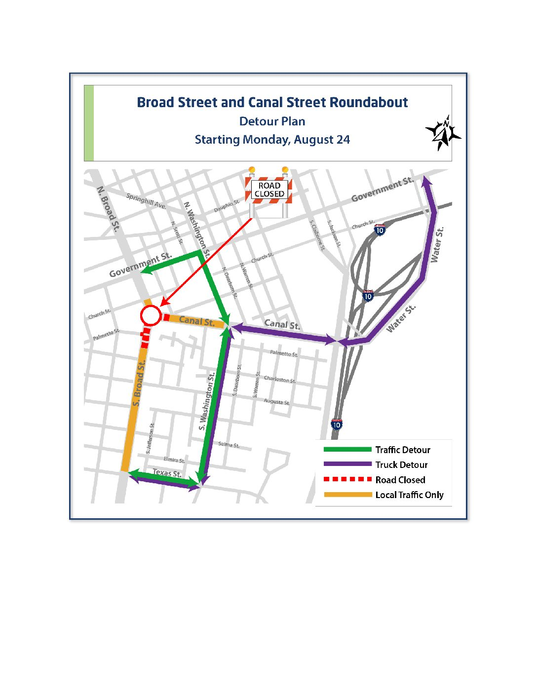 Broad Street to close for roundabout construction