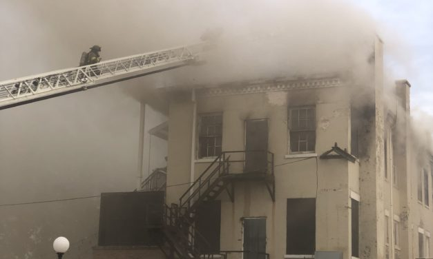 Flames engulf Cotton Hall in Midtown