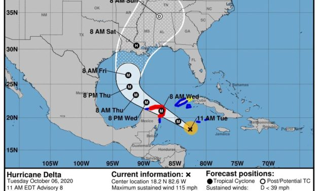 Governor declares state of emergency for Hurricane Delta