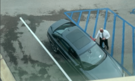 Video said to show UA security head cleaning chancellor's car
