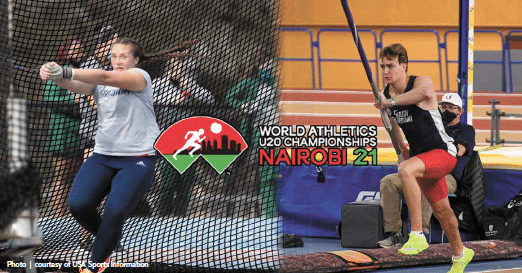 Two Jaguars compete at world junior track championships