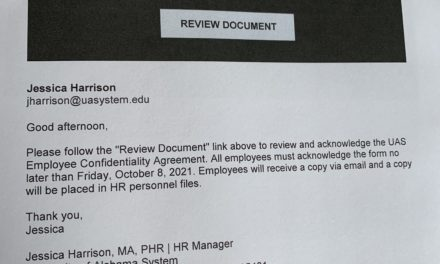 Confidentiality breach — UA System now threatens employees with investigation